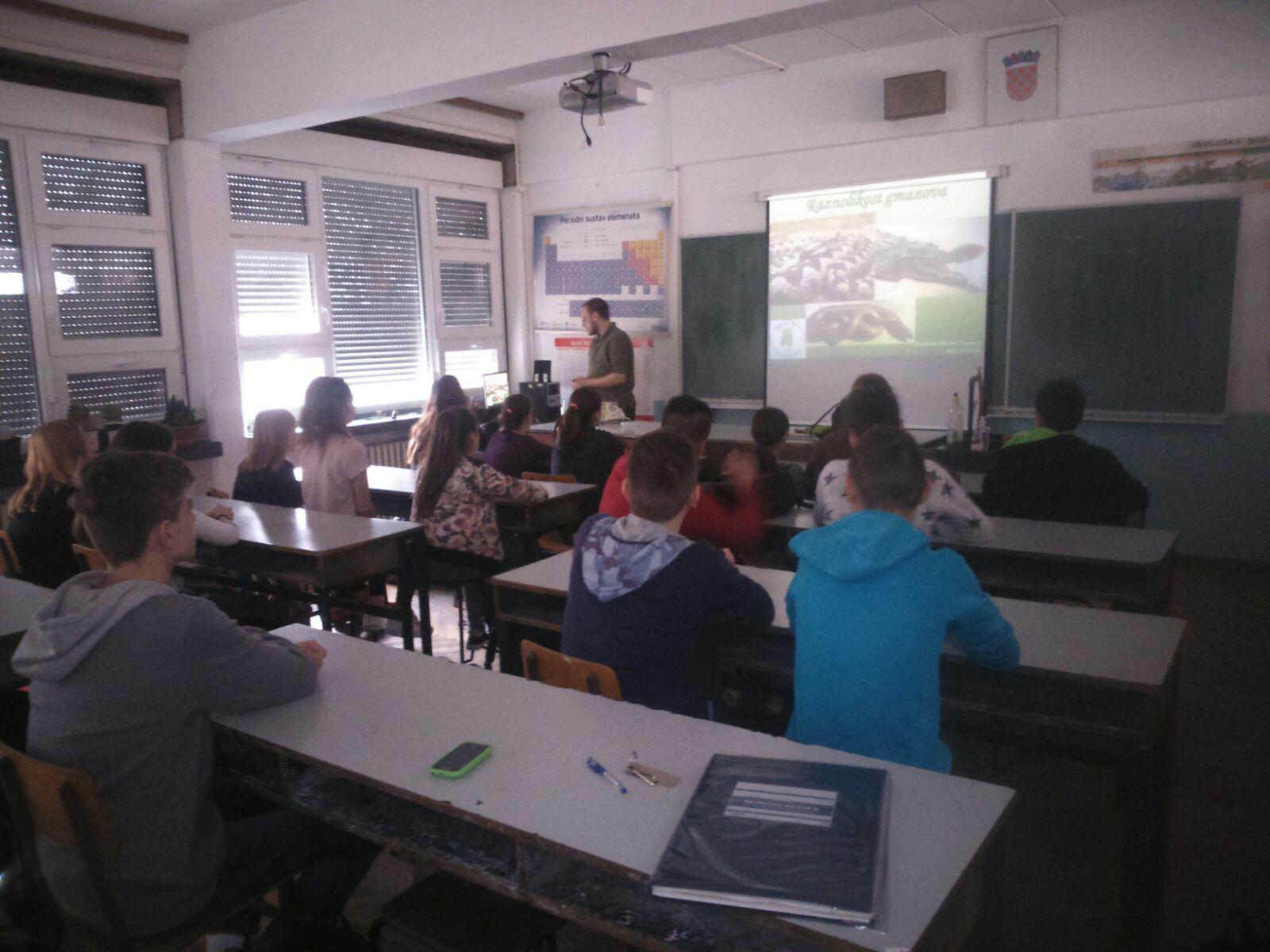 """Predavanje """"Raznolikost gmazova"""" za OŠ Ivana Mažuranića"""